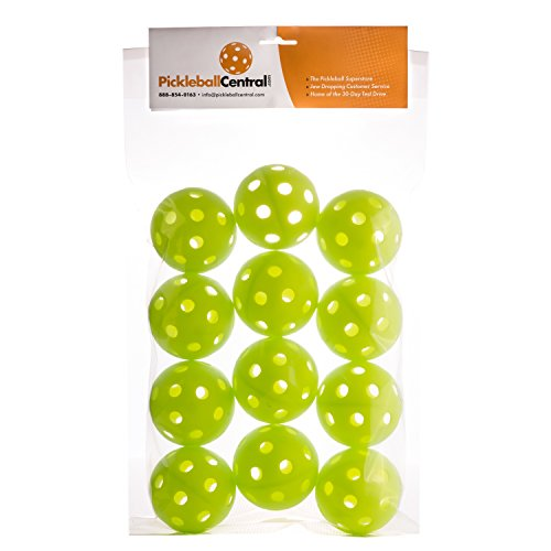 JUGS SPORTS Pickleballs - 1 Dozen Jugs Lime Green Pickleballs