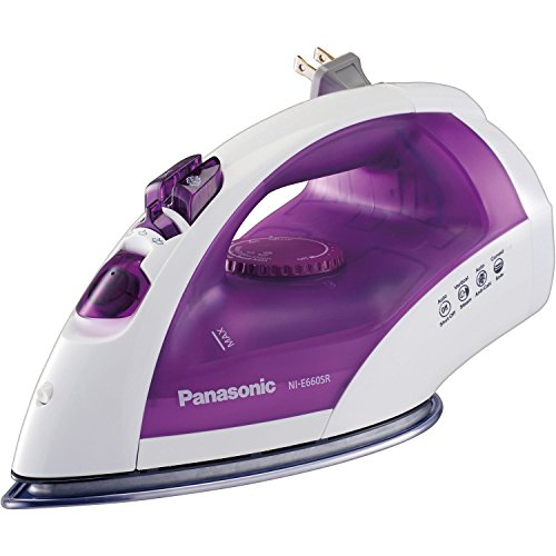 NEW Panasonic NI-E660SR Steam Circulating Iron with Curved Non-Stick Stainless Steel