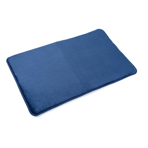 "Memory Foam Bathrug – Royal Blue Bath Mat and Shower Rug Large 20"" x 32"" Inches, Non Slip Latex Free Plush Microfiber. Comfortable, Beautiful and Maximum Absorbency."