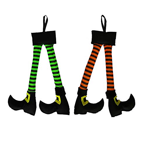 RDC Plush Hanging Witch Legs Halloween Car Truck Decoration - Set of Two -