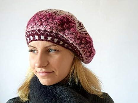 5a4bc20a85b Hand Knit Wool Beret