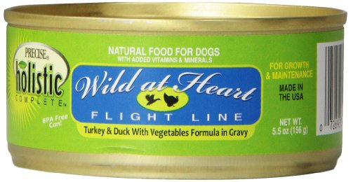Precise 726371 24-Pack Holistic Complete Grain Free Turkey/Duck Food for Pets, 5.5-Ounce