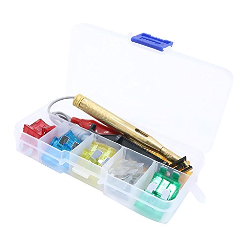 Non-Brand 30X Medium Blade Style Fuses Circuit Protection and Puller with Test Pencil
