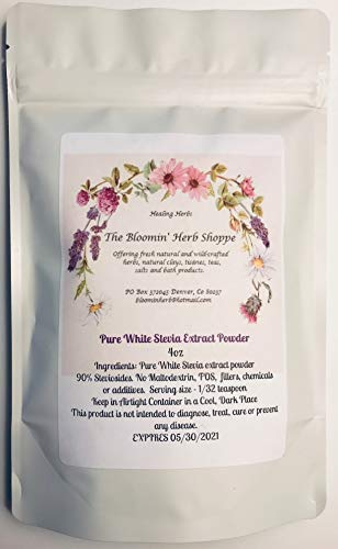 (Premium White Stevia Extract Powder | 4oz | Micro Scoop | Highly Concentrated | Zero Calorie Sweetener | 100% Pure Extract, no fillers or additives | White Label Herbs | Bulk |)