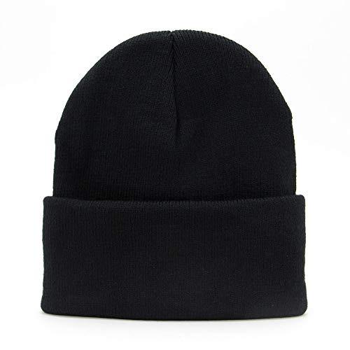 - jerague Men Women Acrylic Watch Cap Wool Winter Beanie Skull Cap Embroidery Cuffed Hat
