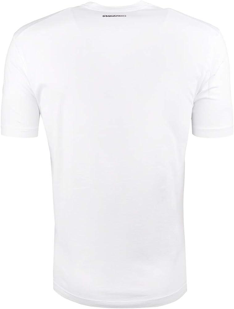 DSQUARED2 S71GD0488S22427 Camiseta Hombre Blanco XXL: Amazon.es: Ropa y accesorios