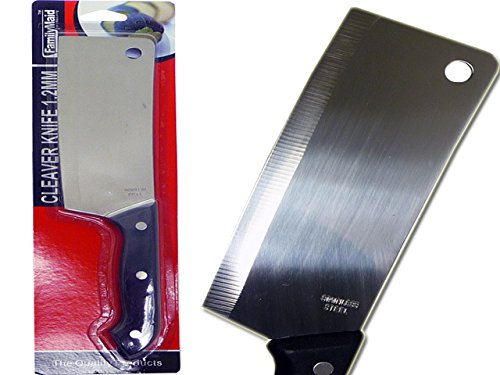 KNIFE CLEAVER 1.2MM BLISTER CARD , Case of 96 by DollarItemDirect