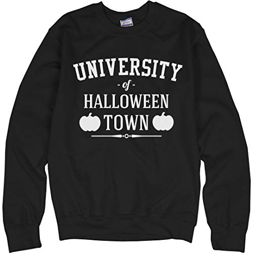 Customized Girl University of Halloween Town Sweater: Unisex Ultimate Crewneck Sweatshirt Black