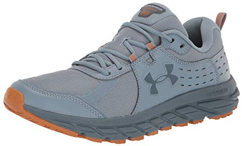 Under Armour Men's Charged Toccoa 2 Running Shoe, Ash Gray (400)/Harbor Blue, 12