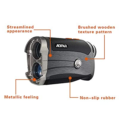 AOFAR G2 Golf Rangefinder 600 Yards Laser Range Finder 6x25mm Waterproof with Slope, Pulse Vibration, Carrying Case, Free Panasonic Battery, Gift Packaging (Wooden) from aofar laser rangefinder