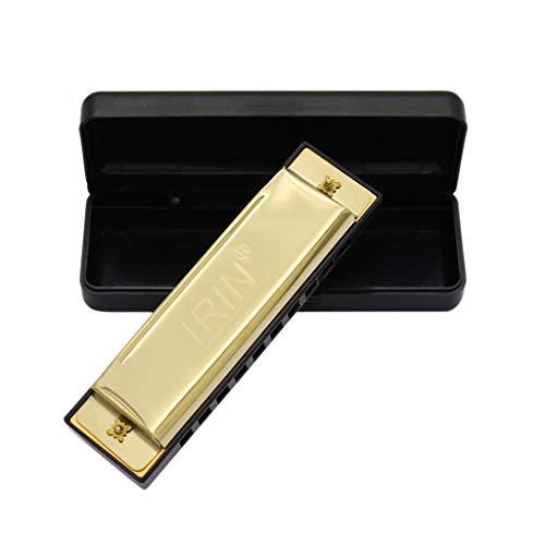 ( Orcbee  _Harmonica 10 Holes Key of C for Blues Rock Jazz Folk Harmonicas Gift for Kids (Gold))