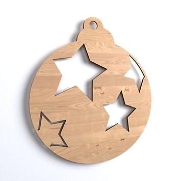 10 X Weihnachtskugel Weihnachtsbaum Tannenbaum Weihnachten Chrismas Baumschmuck Form Holz Schneemann Basteln Malen Dekoration Winterdeko Wohnen