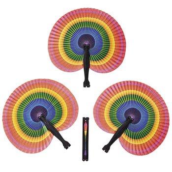 Rainbow Folding Fans (Rainbow Fan)