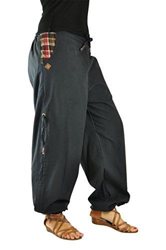 pantalones cagados cortos y largos para hombres y mujeres. Pantalones bombachos para hombres y mujeres como ropa hippie de virblatt S - L �?Praktisch Negro