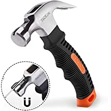 Hammer with Magnetic Nail Holder, Tacklife Claw Hammer with Anti-slip, Ergonomic Soft Rubber Handle for DIY and Small Jobs Around the House - HMH2A