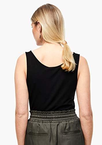 s.Oliver Black Label damska koszulka z dżerseju w jednolitym kolorze: s.Oliver BLACK LABEL: Odzież
