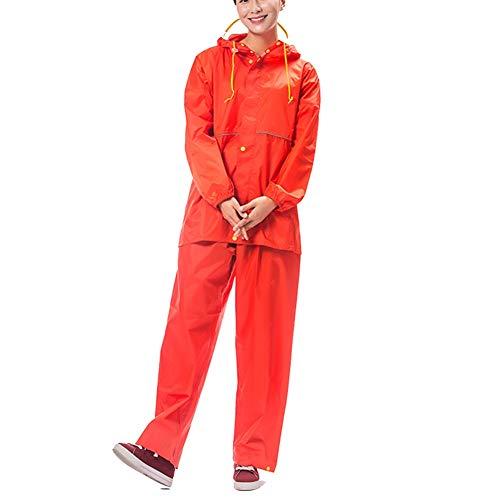 Mantella Pioggia Portatile All'acqua Red Zhangqiang Per Poncho Blu Adulto Da L Resistente Dimensioni Uomo Impermeabile Adulti Rain Vestito Tuta Antipioggia colore qftAzA