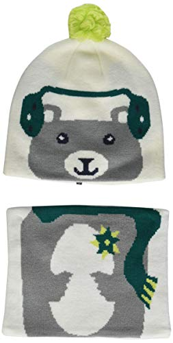 Columbia Kids & Baby Snow More Beanie and Gaiter Set Toddler, White Bear, One Size