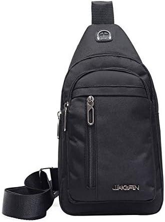 Men/'s Canvas Sling Bag Chest Bag Messenger Crossbody Bags For Teenger