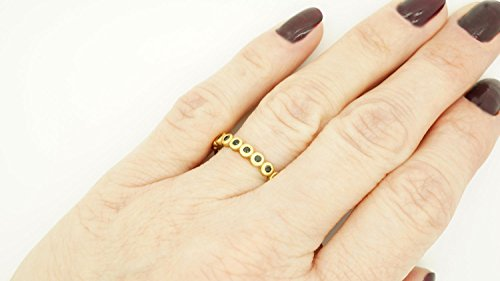 Wedding band-Yellow Gold Diamond Ring-Yellow Gold Ring-Eternity diamond ring-Eternity wedding band-Black diamond ring-Eternity ring-For here