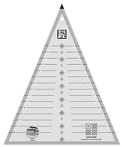 (Creative Grids Spider Web Triangle Quilting Ruler Template CGRKA6)