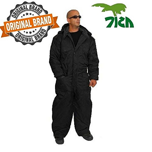 Coverall IDF Hermonit Snowsuit Ski Snow Suit Men's Cold Winter Clothing - Black XL by HERMONIT