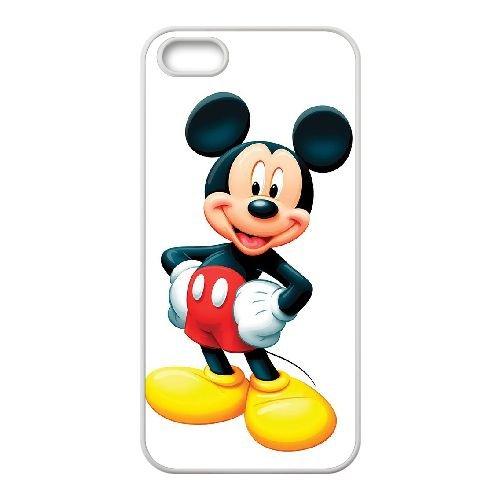 S3P90 Mickey et Minnie I1H8KI coque iPhone 5 5s cellulaire cas de téléphone couvercle coque blanche KN3SVG4DN