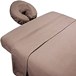 Tranquility Microfiber Massage Sheet Sets by Body Linen - Lightweight, Long-Lasting Microfiber Massage Table Sheet Set - Stain-Resistant, Soft and No Pilling {Walnut}