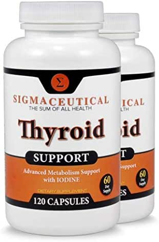 2 Pack of Thyroid Support Supplement – Iodine Supplement - Zinc & Selenium Supplement – Kelp Supplement - 120 Capsules Each