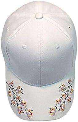 RETUROM Nuevas mujeres flor de algodón bordado gorra de béisbol para la  protección del sol (blanco)  Amazon.es  Deportes y aire libre 646b26793b5