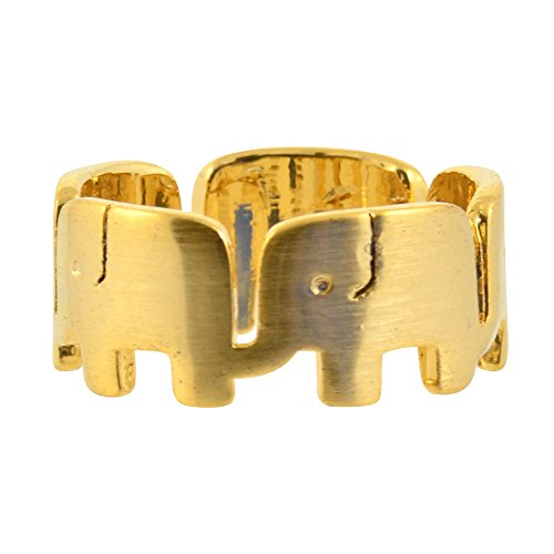 AppleLatte Republican Elephants Ring, Gold Plated Size 7