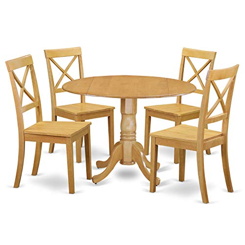East West Furniture DLBO5-OAK-W Dublin Set, Oak