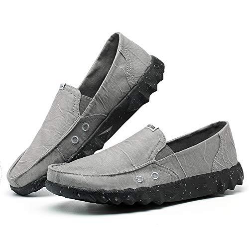Plimsolls Yacht Soft Para Jincosua color Marrón Gris Eu Shoes Casual Pumps Slip Tamaño Alpargatas 44 Durable Hombre En zYHzqp