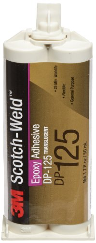 3M Scotch-Weld Epoxy Adhesive DP125 Translucent, 1.7 fl oz (Case of 12) by 3M