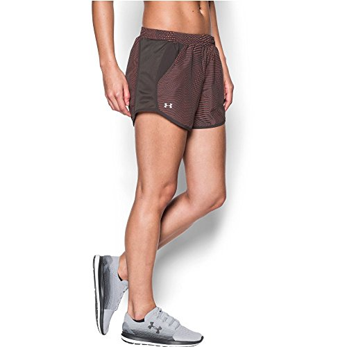 Under Armour Women's Fly-By Perforated Shorts, Charcoal (019)/Reflective, Large