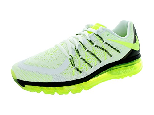 Nike hombre Air Max 2015 running Shoe White/Volt/Black