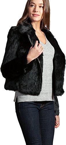 Overland Sheepskin Co Robin Rabbit Fur Moto Jacket