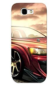New Style Trinalgrate Hard Case Cover For Galaxy Note 2- Matte Black Vette
