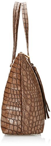 Gaudì Shopping Linea Alicia, Borsa a Mano Donna, Marrone (Brown), 35 x 30 x 14 cm (W x H x L)