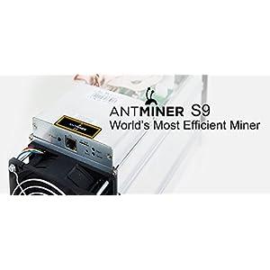 Bitmain Antminer S9 Bitcoin Miner, 0.098 J/GH Power Efficiency, 13.5TH/s