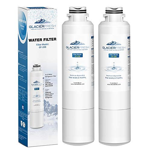 French Door Refrigerator Water Dispenser - Samsung Refrigerator Water Filter Replacement DA29-00020B HAF-CIN/EXP For French Door Fridge Kitchen By GLACIER FRESH (2 Pack)