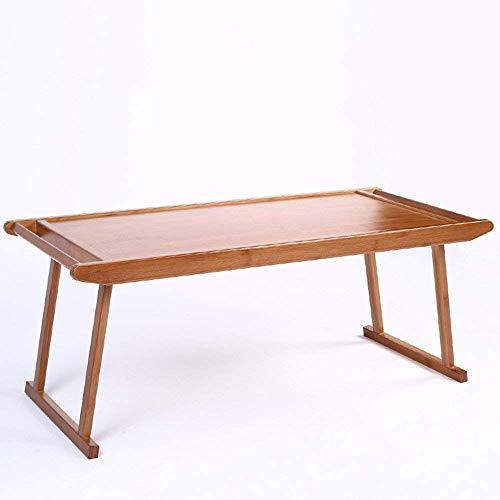 DEED Mesa Plegable de bambú Arte de Mesa, Mesa Baja, Mesa de Centro Retro, sofá Mesa de Desayuno Ahorre Espacio Dormitorio Estudiante Easy Lazy Bed Simple Home,76 * 43 * 29cm