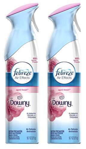 Febreze Air Effects - With Downy Scent - April Fresh - Net Wt. 9.7 OZ (275 g) Per Can - Pack of 2