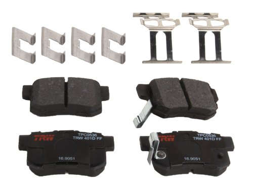 TRW TPC0536 Premium Rear Disc Brake Pad Set