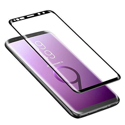 Galaxy S9 Plus Screen Protector,ALCLAP S9 Plus Tempered Glass 3D Full Coverage Ultra HD Clear Anti-Bubble Screen Protector Compatible Samsung Galaxy S9 Plus-Black