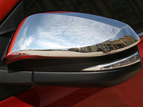 (QAA FITS 4RUNNER 2014-2019, Highlander 2014-2019 & RAV4 2013-2018 Toyota (2 Pc: ABS Plastic Mirror Cover Set (NO Cutout for Turn Signal), 4-Door, SUV) MC13181)