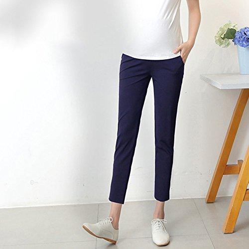 di Pantaloni KINDOYO d'ufficio unita Estate Moda Bump Pantaloni Tinta Stretta Donna della Over Blu gamba Casuale Gravidanza Lavoro Maternità wqqOvXr