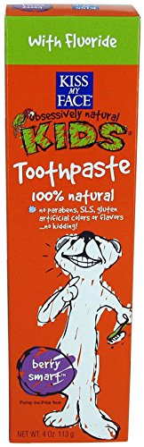 Kiss My Face Gentle Toothpaste with Fluoride for Kids - 4 oz - Berry Smart