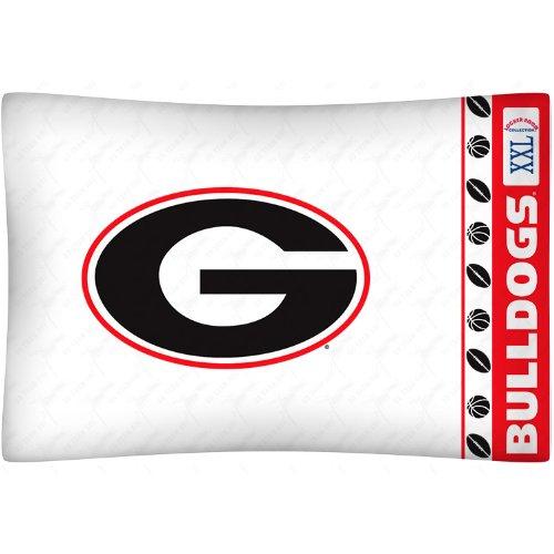 NCAA Georgia Bulldogs Micro Fiber Pillow Case Logo Georgia Bulldogs Pillow