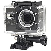 Boyiya New Full HD 1080P WIFI H16 Waterproof Action Sports Camera Camcorder 2 inch Ultra HD display screen (Black)